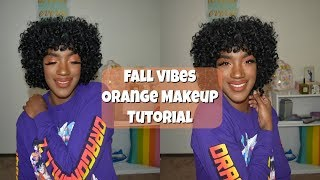 FALL VIBES | ORANGE MAKEUP TUTORIAL | BEAUTY BY KANDI