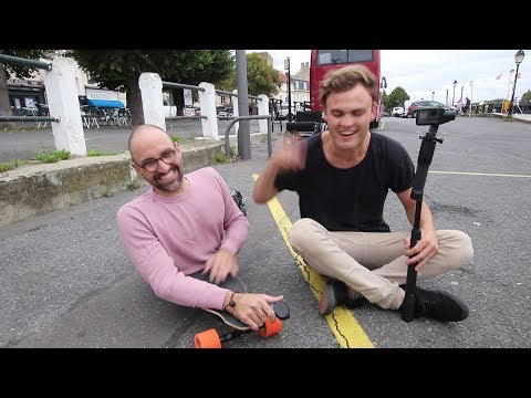 RIDING A BOOSTED BOARD WITHOUT LEGS WITH SAM EVANS | VLOG 51