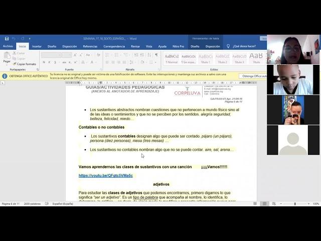 11/06/2021 SEXTO, ESPAÑOL; SEMANA 17: RETROALIMENTACIÓN 1 PARTE.