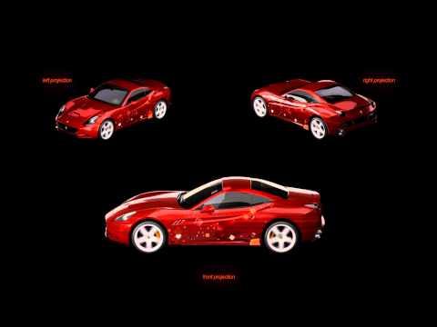 Shell V-Power Nitro+ Ferrari California Projection Mapping Cgi