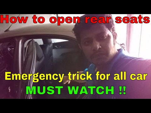 Tata tiago rear seat opening | Emergency trick for all cars