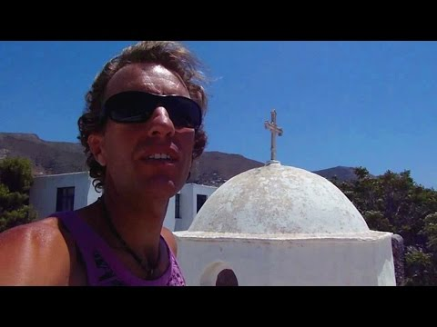 Paros, Greece: Walking from my $11 hotel room to the Aegean