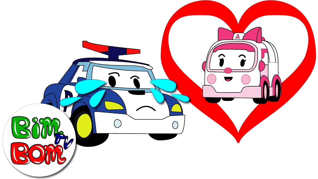 Poli robocar fell in love with amber happy valentine 39 s day valentine 39 s day for kids youtube - Robocar poli ambre ...
