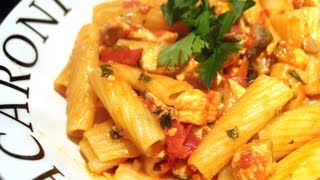 Spicy Tomato & Salmon Pasta Recipe