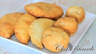How To Make Jamaica Stuffed Fry Dumpling | Recipes By Chef Ricardo