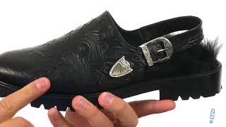 Toga Virilis Embossed Leather Open-Back Loafer SKU: 8957098