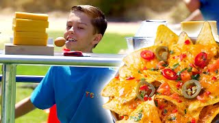 Crazy NACHO CHEESE Obstacle Course Race! | Universal Kids