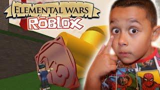 NOUS AVONS DES POUVOIRS MAGIQUES. Elemental Wars Roblox (ROBLOX GAMEPLAY)