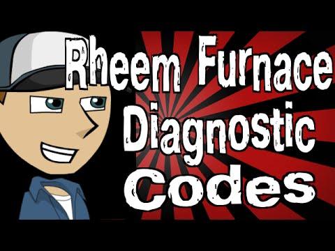 rheem furnace diagnostic codes