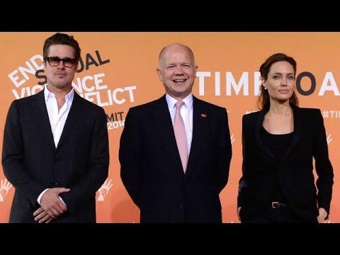 Angelina Jolie và Brad Pitt tham dự hội nghị chống bạo hành tình dục