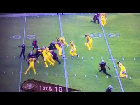 SF 49ers Bryan Hoyer Interception vs Rams - Analysis