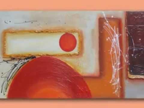 Giovesur cuadros modernos pintados a mano youtube for Cuadros pintados a mano