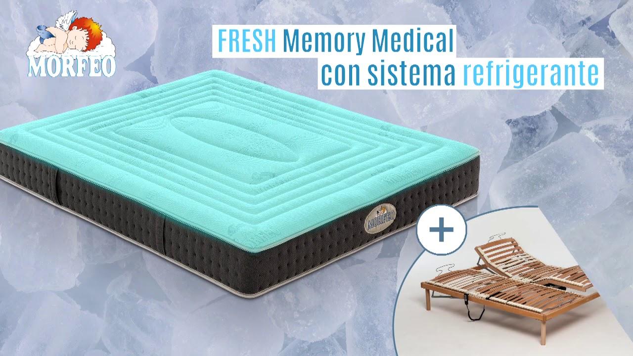 materasso morfeo nanotech singolo 80 cm, memory 7,3 cm, 3000 molle, 9 zone differenziate. Memory Medical Fresh Il Materasso Con Sistema Refrigerante Youtube