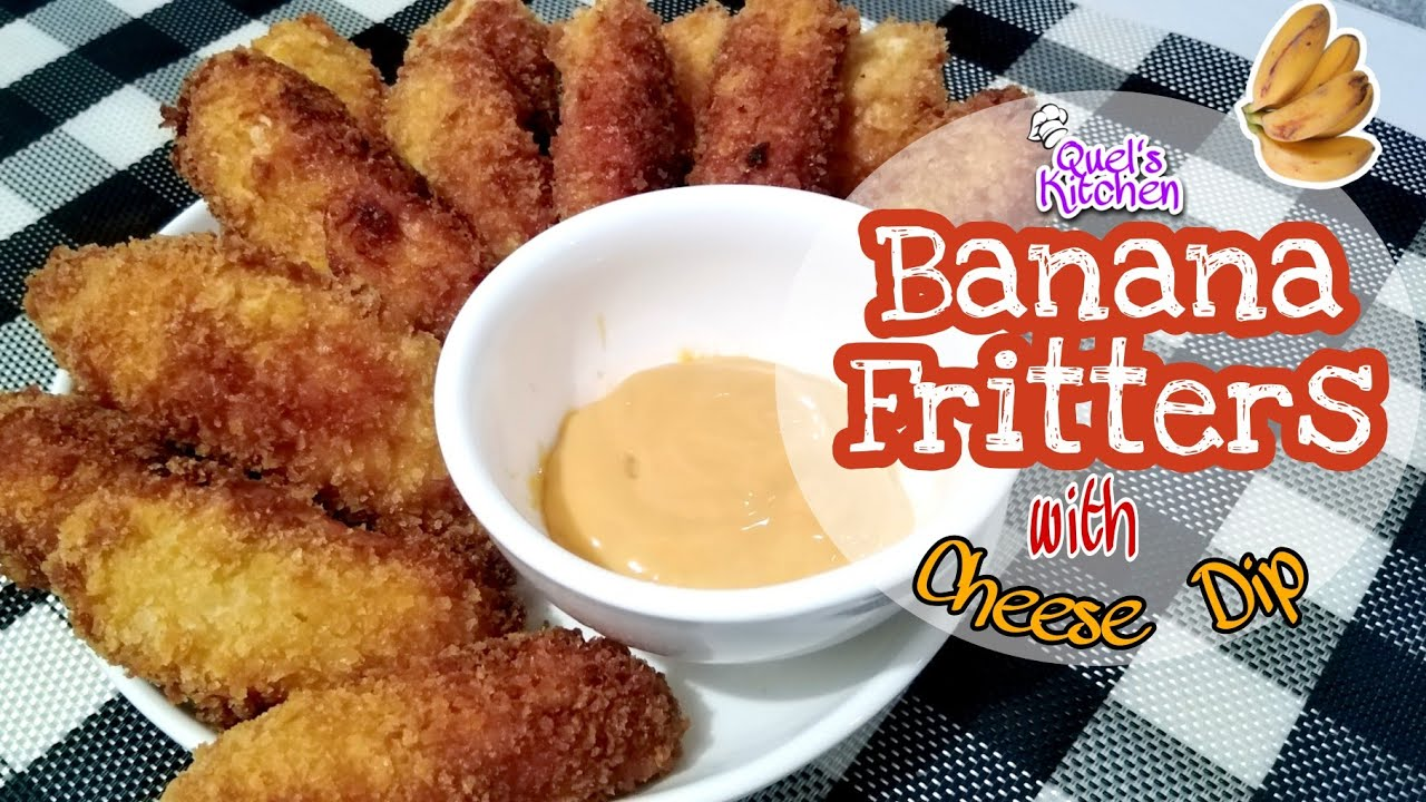 Banana Fritters Breaded Banana Fritters With Cheese Dip Banana Recipe Youtube