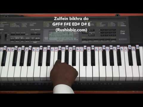Humko Humise Chura Lo (Piano Tutorials) - Mohabbatein