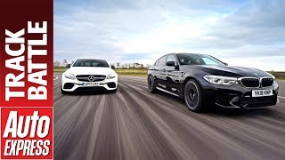 New BMW M5 vs Mercedes-AMG E 63 S - which is fastest on track?