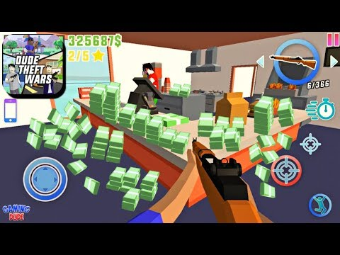 Dude Theft Wars: Open World Sandbox - Hidden Money Locations | Android Gameplay HD