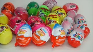 21 Surprise Eggs Kinder and Dinosaur Eggs ! Bóc Trứng Socola  lấy Quà ! WOB Kids !