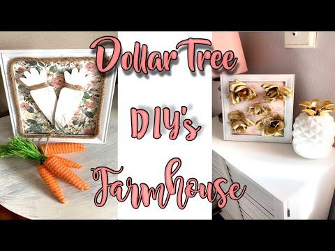 FARMHOUSE DIY   FARMHOUSE DIY DECOR   SPRING WALL DECOR   DOLLAR TREE DIY