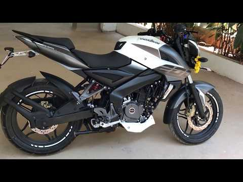 Pulsar 200 Ns 2017 review video ..white color