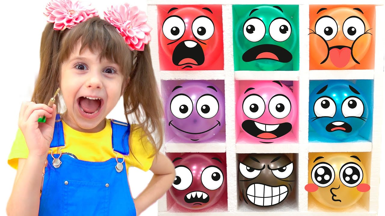Download Eva pretends to challenge professions- play with colored toy   funny stories for children