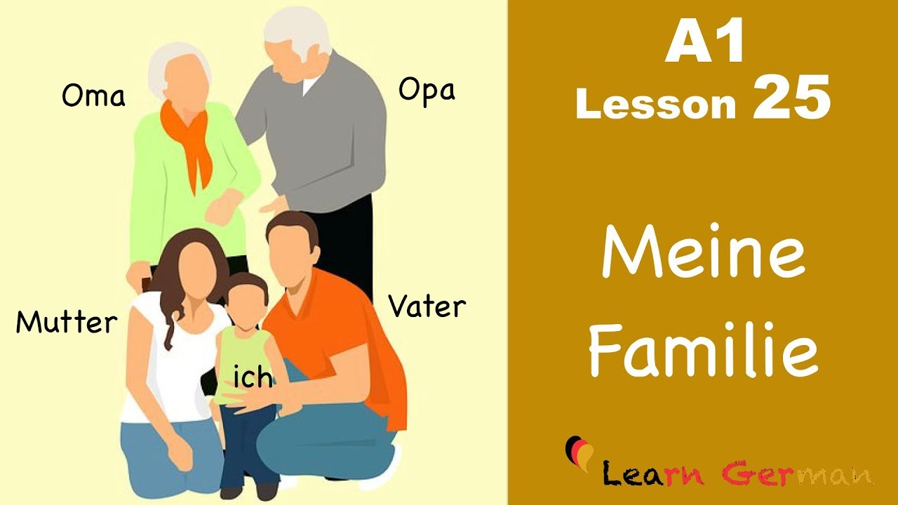 Learn German | Family | Meine Familie | German for beginners | A1 - Lesson 25