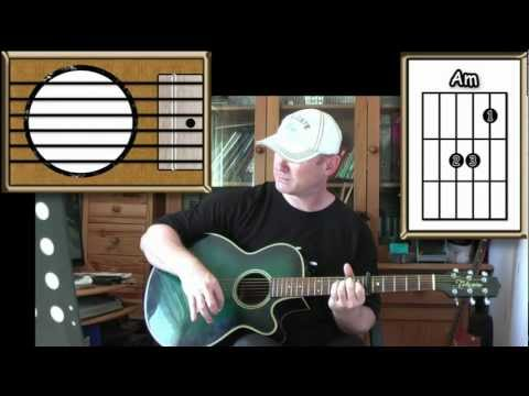 Rolling In The Deep Adele Acoustic Guitar Lesson Easy Youtube