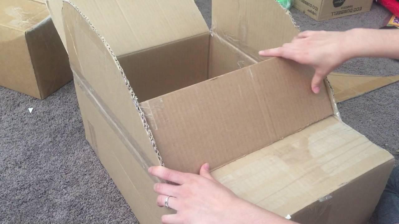 Como Hacer Un Carro Con Caja De Cartón Pt 12