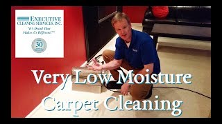 Very Low-Moisture Carpet Cleaning