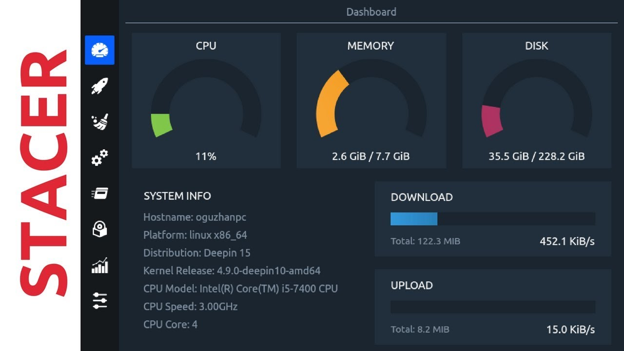 Stacer - System Optimizer And Monitoring Tool For Linux