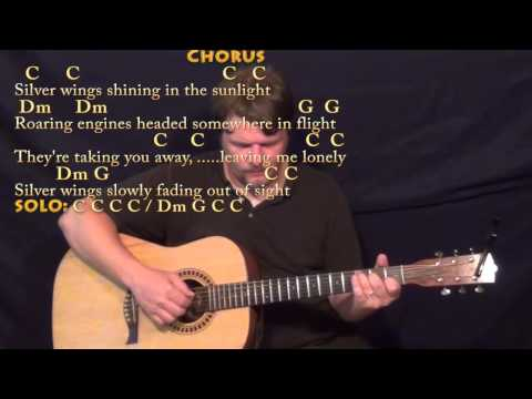 Silver Wings (Merle Haggard) Fingerstyle Guitar Cover Lesson in C with Chords/Lyrics