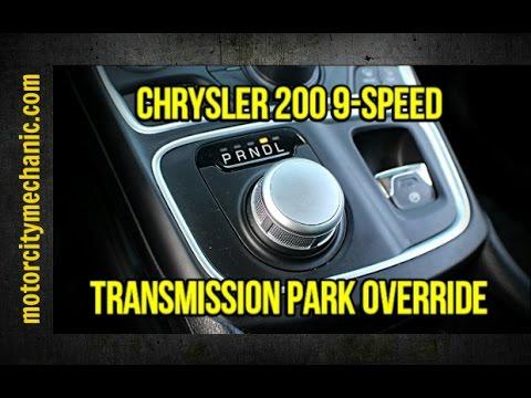 Chrysler 200 9 Speed Transmission Park Override Location Youtube