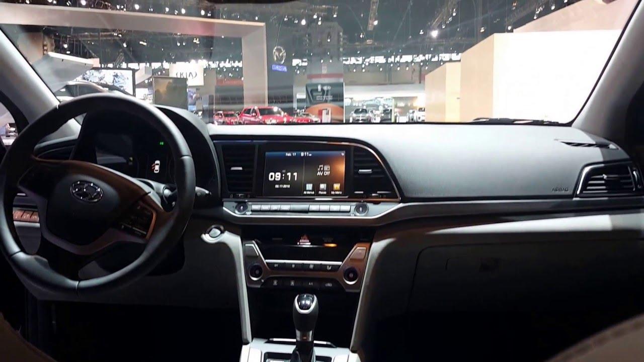 2017 Hyundai Elantra Limited Interior 2016 Chicago Auto Show Youtube