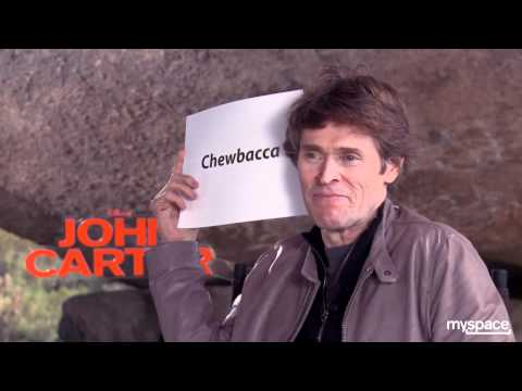 Taylor Kitsch, Willem Dafoe and the cast of 'John Carter' play Celebrity with Andrew Freund
