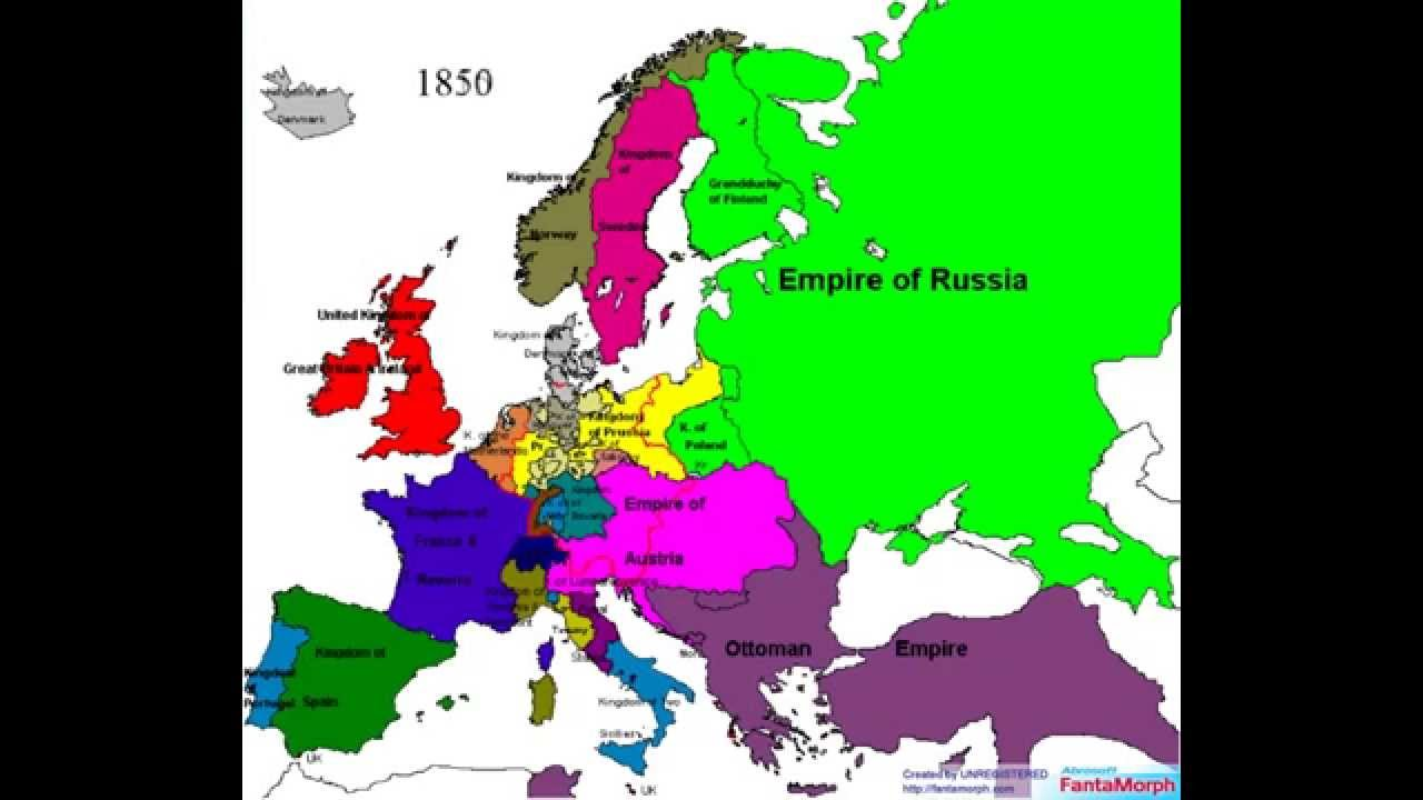 Political Borders of Europe from 1519 to 2006 YouTube