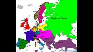 Political Borders of Europe from 1519 to 2006