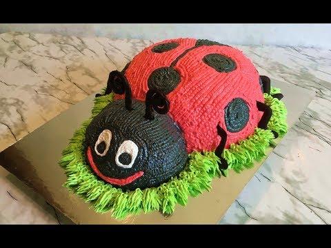 ТортБожья Коровка/Ladybug Cake/Кремовый Торт/З-D Торт/Пошаговый Рецепт/Авторский Рецепт