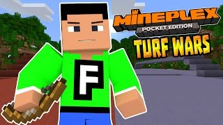 TURF WARS MINIGAME in MCPE!!! - Mineplex Server 0.15.1 - Minecraft PE (Pocket Edition)