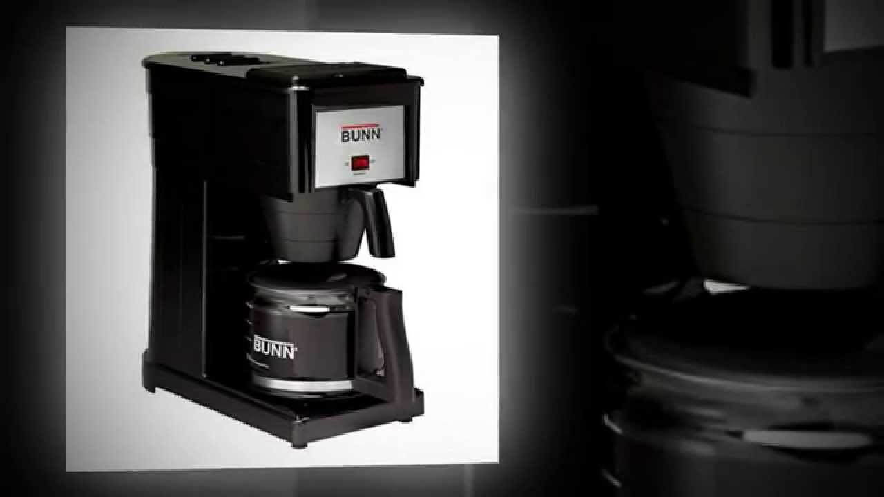 BUNN GRB Velocity Brew 10 Cup Home Coffee Brewer, Black - YouTube