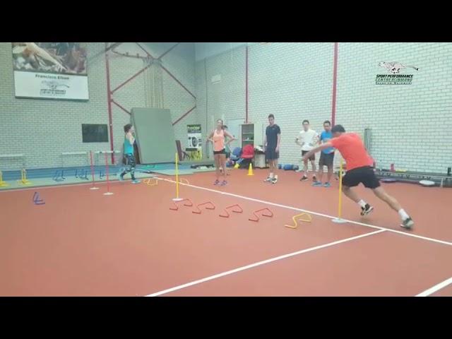 Sporters waaronder Kiki Bertens en Sander Fischer werken aan hun voetenwerk!
