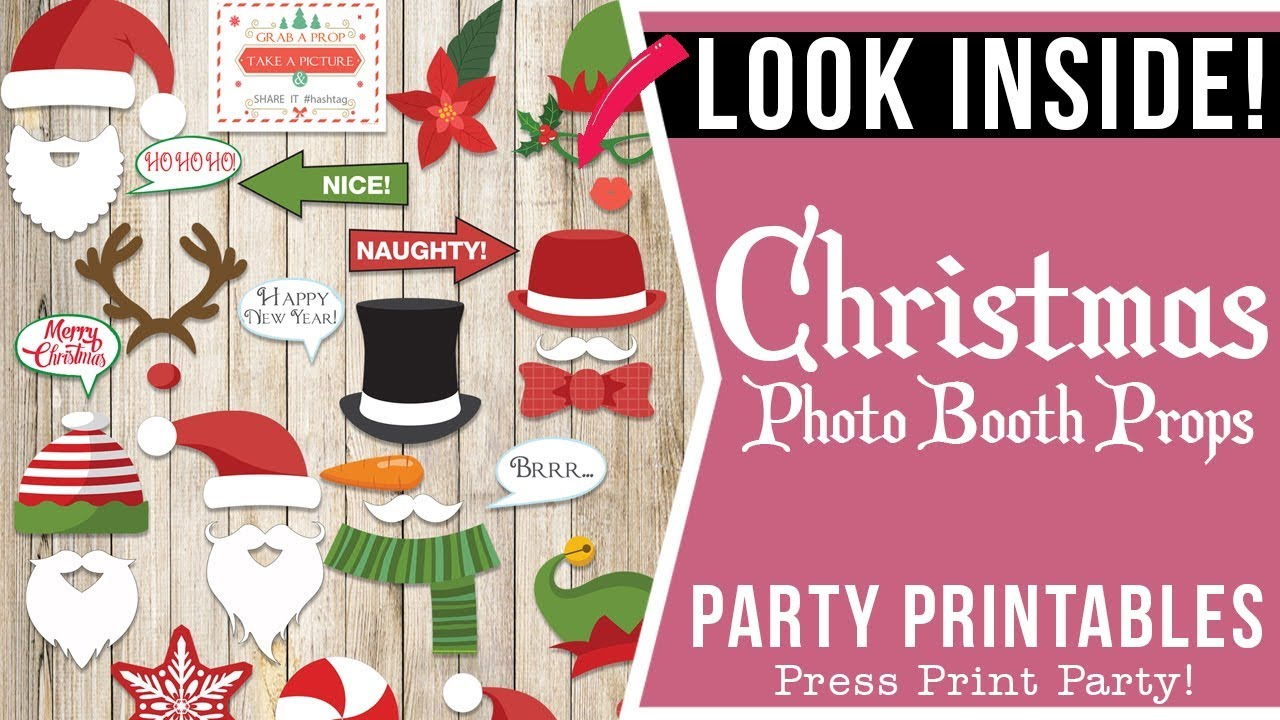 image about Christmas Photo Booth Props Printable named 37 Xmas Picture Booth Props Printable. Search Within