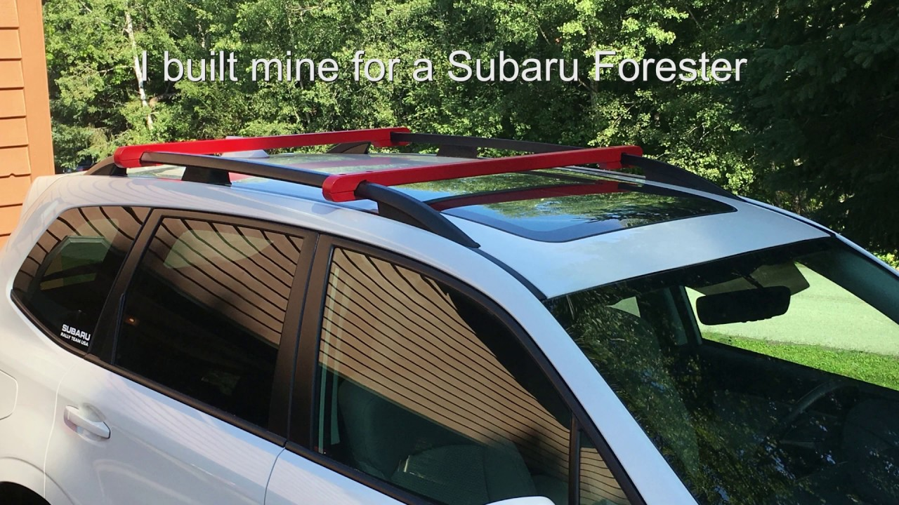 diy suv roof rack crossbars