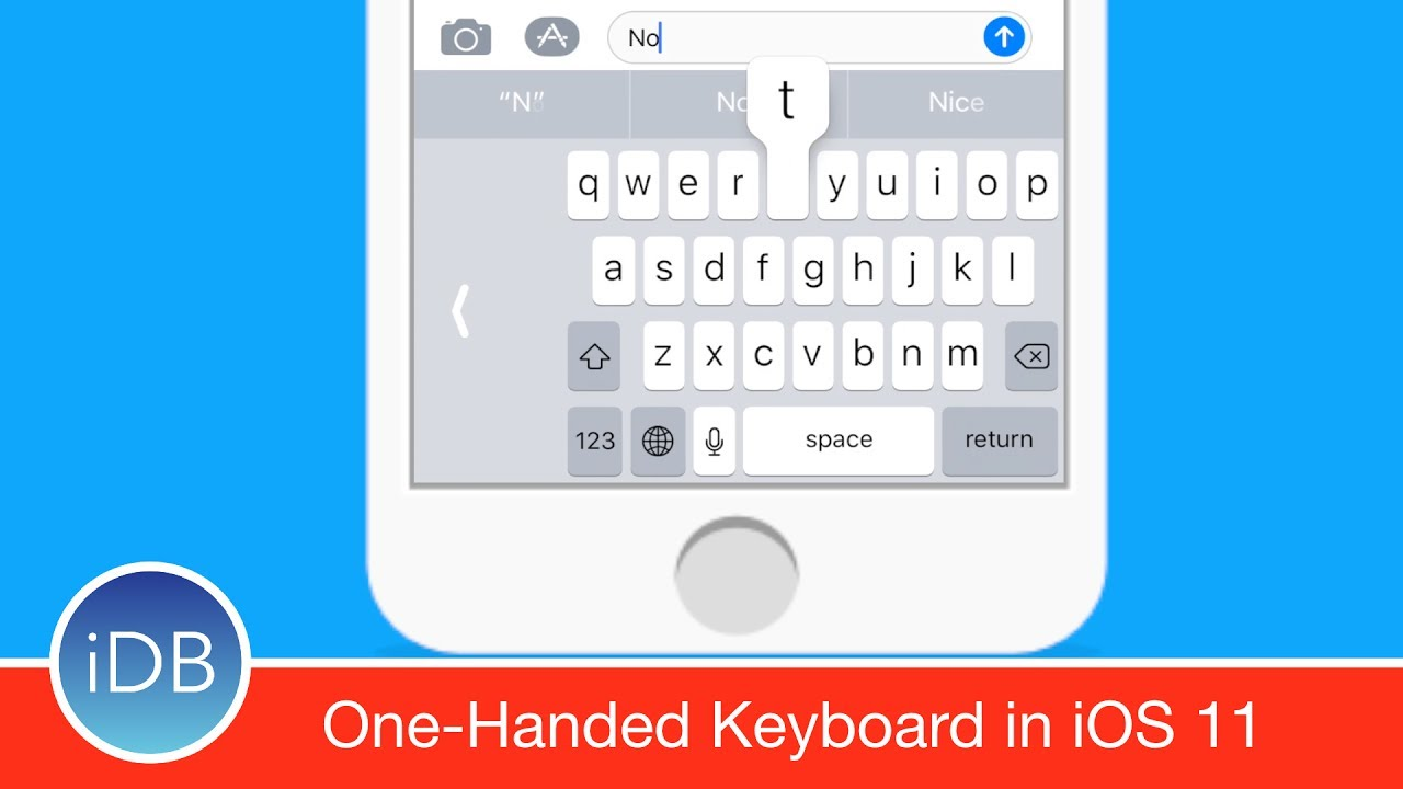 hands on with ios 11 39 s one handed keyboard youtube. Black Bedroom Furniture Sets. Home Design Ideas