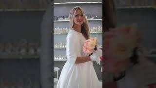 Атласное свадебное платье обзор от свадебного салона Аврора в Петербурге