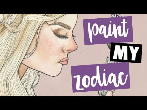 PAINTING MY ZODIAC - Gouache - YTAC (YouTube Artist Collective)