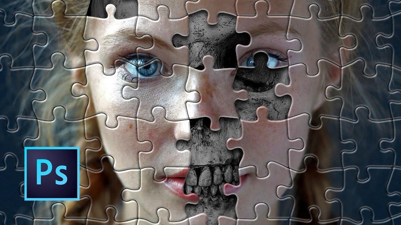 Tutorial Photoshop Efecto Puzzle Youtube