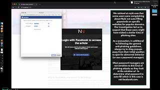 Facebook Popup Phishing Page (Social Login)