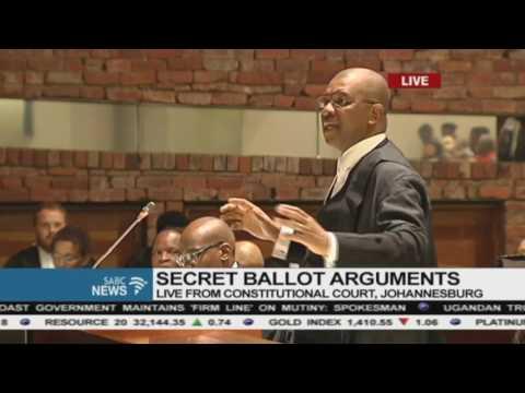 Adv Dali Mpofu   Closing Argument on the ConCourt Secret Ballot Application