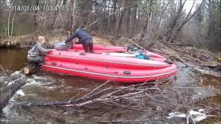 Mountain river. Испытание лодки!