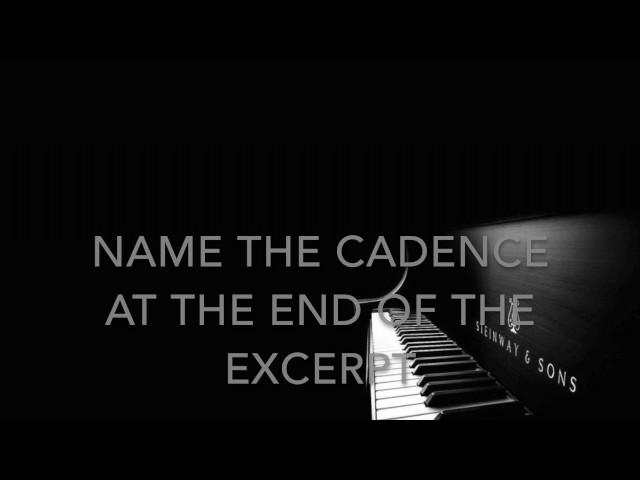 GCSE MUSIC REVISION - CADENCES!